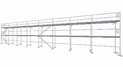 NEU Layhergerüst ca. 160 qm Typ Layher Gerüst Fassadengerüst Gerüst Stahlböden