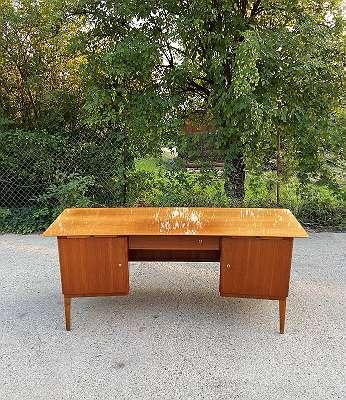 Mid-Century Freisteher Schreibtisch Arbeitstisch Bürotisch aus den 60er Jahren