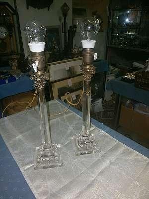 2 Tischlampen Glas