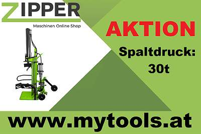 HOLZSPALTER ZIPPER Zi-HS30EZ (30 TONNEN SPALTKRAFT) Brennholzspalter Spalter