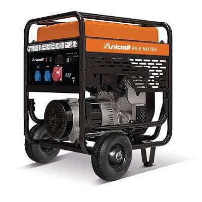 Unicraft Stromerzeuger für Hausversorgung, Licht und Kraftstrom, inkl. Testlauf und Inbetriebnahme, Stromaggregat, Notstromaggregat PG-E 100 TEA, NEU mit Garantie