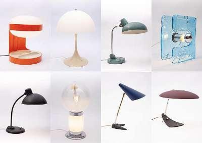 Mid-Century Vintage Tischlampen, Schreibtischlampen, Leuchten, Lampen