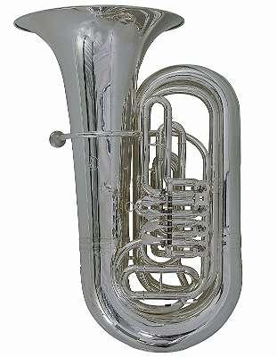 Concerto Tuba Wagner S Limited Edition, B-Tuba,4 Zylinderventile, Luxus Koffer-Bag versilbert, handgehämmert