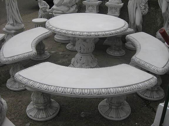 Gartenmobel Teak Mit Edelstahl :  Tisch Steintisch Gartenmöbel Betonwerkstein massiv frostsicher Neu