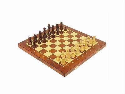 Schach aus Buchenholz 38 x 38 cm / Schachbrett / Holzschach