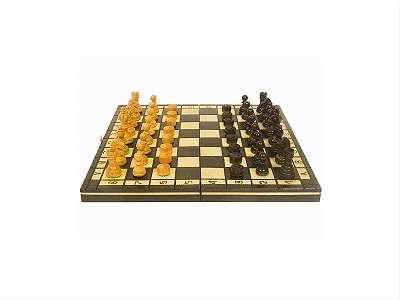Schach und Dame 35 x 35 cm/ Schachbrett/ Holzschach