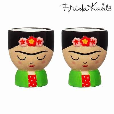 It´s FRIDA! Angesagter Frida Kahlo 2er Eierbecher-Set aus Steingut