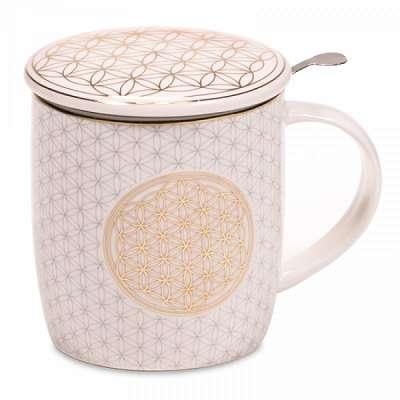 Blume des Lebens Teetassen Set