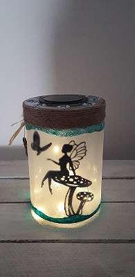 Solarlampe Glas Fee Elfe