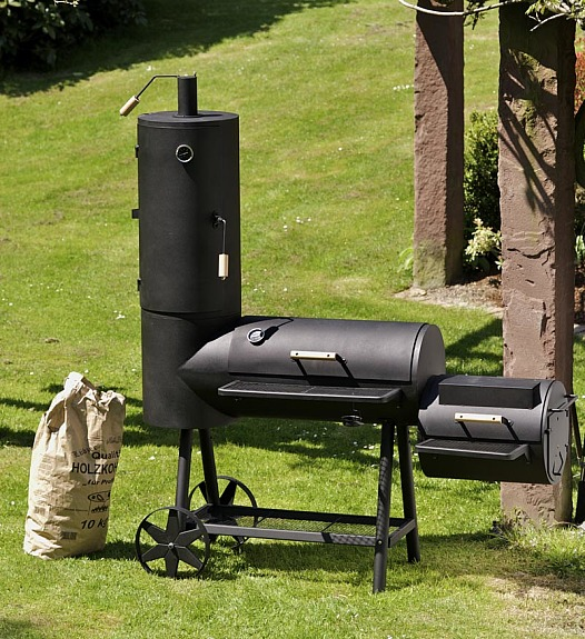 16 zoll profi xxl smoker bbq grillwagen holzkohle grill. Black Bedroom Furniture Sets. Home Design Ideas