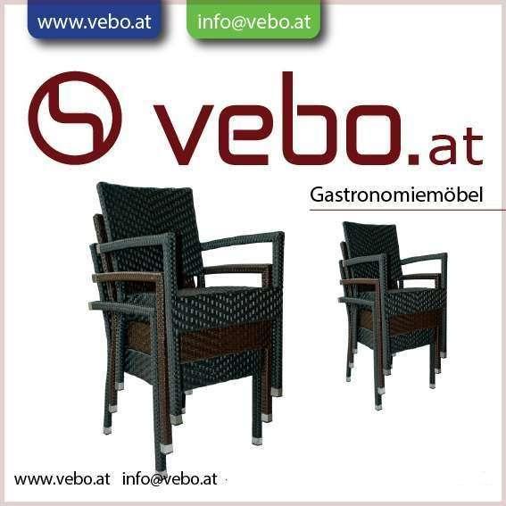 VEBO  Gastronomie Gartenstühle Victory aus Technorattan für