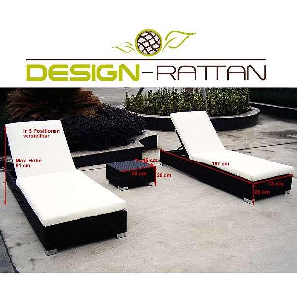 rattan sonnenliege set macao 2 liegen 1 tisch 899. Black Bedroom Furniture Sets. Home Design Ideas