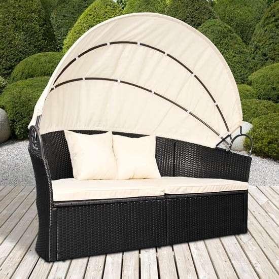 aktion gartenm bel sonneninsel sonnenliege gartenlounge. Black Bedroom Furniture Sets. Home Design Ideas
