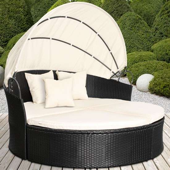 gartenm bel sonneninsel sonnenliege gartenlounge sitzgarnitur rattan lounge neu model julia. Black Bedroom Furniture Sets. Home Design Ideas