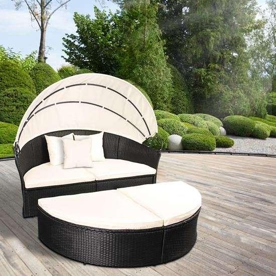 gartenm bel sonneninsel sonnenliege gartenlounge sitzgarnitur rattan lounge neu model julia. Black Bedroom Furniture Sets. Home Design Ideas
