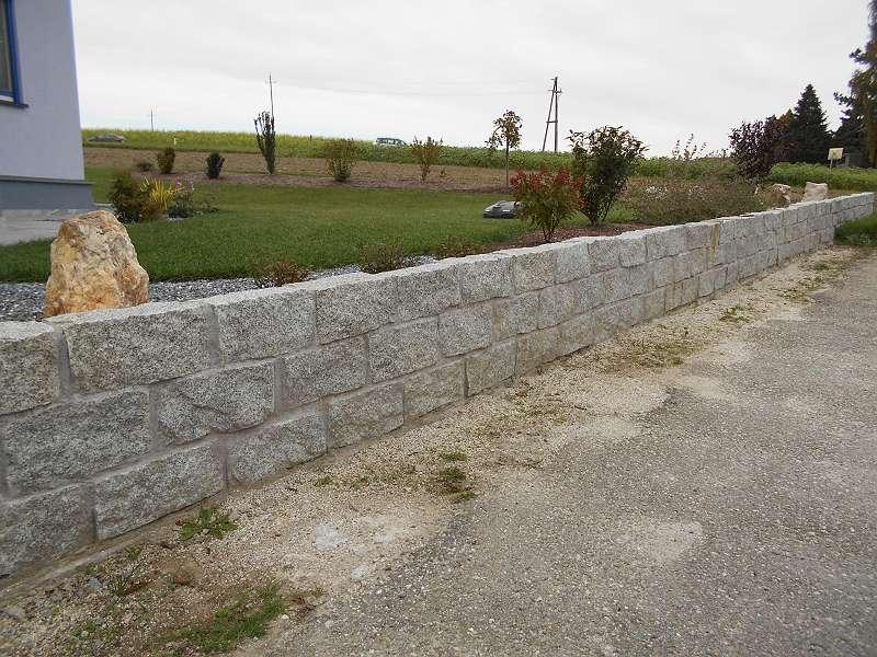 Granit Stein Naturstein Granitstein Mauerstein Gartenmauer