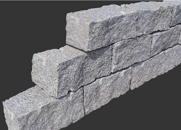 Granit stein granitstein mauerstein leistenstein 40 x 20 for Granitstein arbeitsplatten