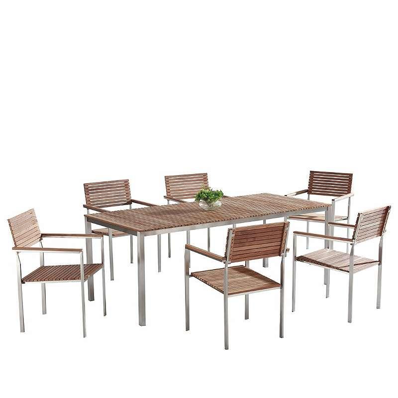 Gartenmobel Set Holz Edelstahl 6 Sitzer Viareggio 1 399 99 1190