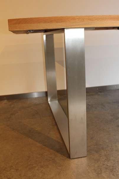 aktion esstisch balkeneiche massiv 200cm esszimmertisch massivholztisch esszimmer tisch. Black Bedroom Furniture Sets. Home Design Ideas