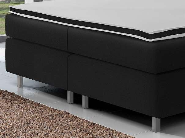 boxspringbett berlin 180x200 cm webstoff in schwarz 559 90 6311 wildsch nau. Black Bedroom Furniture Sets. Home Design Ideas
