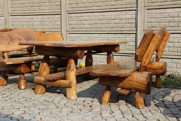 max rustikale gartengarnitur sitzgruppe gartenm bel vollholz holz neu massivholz. Black Bedroom Furniture Sets. Home Design Ideas