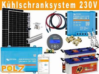 680Wp Photovoltaik / Solar System Inselanlage für Gartenhaus Almhütte Jagdhütte Fischerhütte Wochenendhaus Campingplatz und vieles mehr