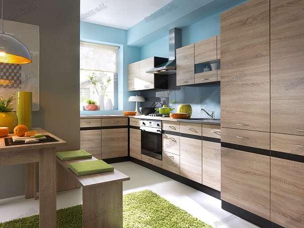 neue k che 240cm in der farbe eiche sonoma 2 jahre garantie 350 1030 wien willhaben. Black Bedroom Furniture Sets. Home Design Ideas