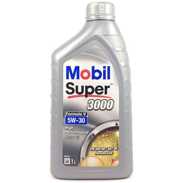 mobil super 3000 formula v longlife 5w 30 motor l 1l vw. Black Bedroom Furniture Sets. Home Design Ideas