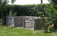 Hochbeet U-Form: 3x2x0,75 m (Breite 1m)