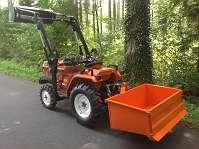 Dreipunktkippmulde 125 x 66 Kat1 Heckschaufel Kippbox Heckbox Traktor ISEKI KUBOTA YANMAR STEYR LINDNER usw