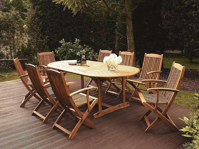Gartenmöbel Set Holz 8-Sitzer MAUI, € 639,- (1190 Wien) - willhaben