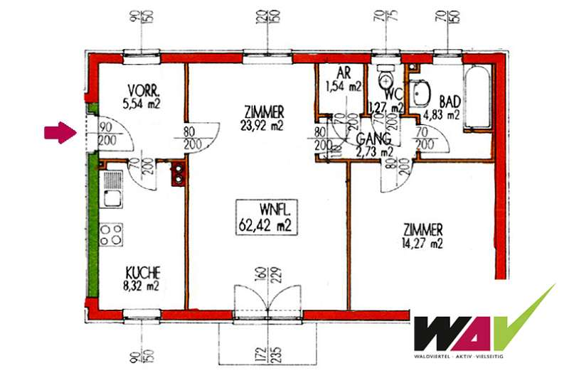 wohnung in drosendorf 62 m 371 2095 drosendorf. Black Bedroom Furniture Sets. Home Design Ideas