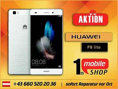 Huawei P8 lite - GEBRAUCHT - mit Garantie - Werksoffen - Schwarz