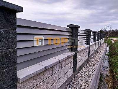 Aluminium Zaun- und Toranlage, Modell PLUTO