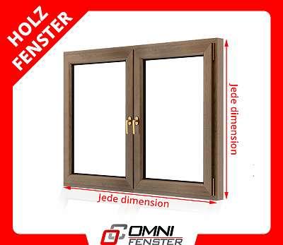 Holzfenster auf Maß Doppelfenster Holz Fenster Kiefer Schorea Sprosse mit Alu Aluminium