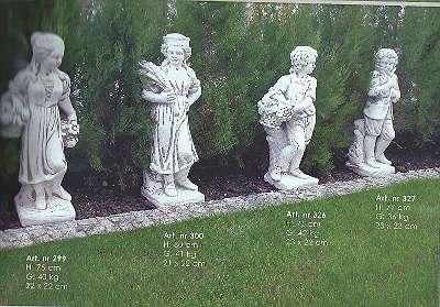 4 Jahreszeiten II,75 cm Skulptur Gartenfiguren Menschen Gartendeko Steinguss