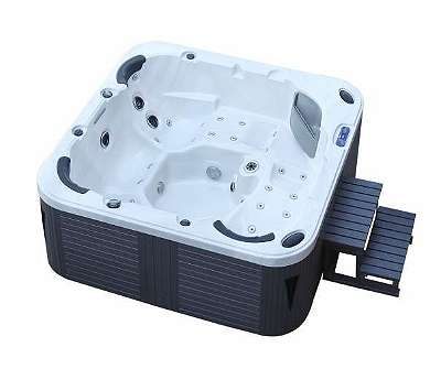 Luxus Whirlpool Outdoor Spa 215x215 + Vollausstattung ! Außenwhirlpool Hot Tub Wellness für 5 Personen (Badewanne) (American) - SONDERAKTION !