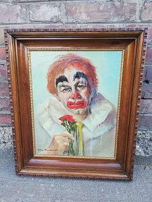 Portrait eines Clowns von Alexander Rudolf