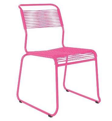 Abverkauf -20% Schaffner Spaghettistuhl Säntis Kufe ohne Armlehne Gartenstuhl Campingstuhl Gartenmöbel 28017.4141 pink / pink