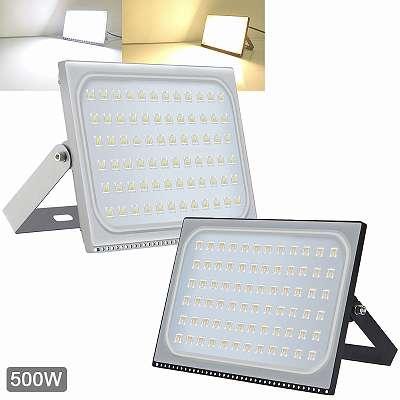 500W SMD LED Fluter 63000 Lumen Flutlicht Strahler Außenscheinwerfer Lampe Leuchte IP65 Leuchte