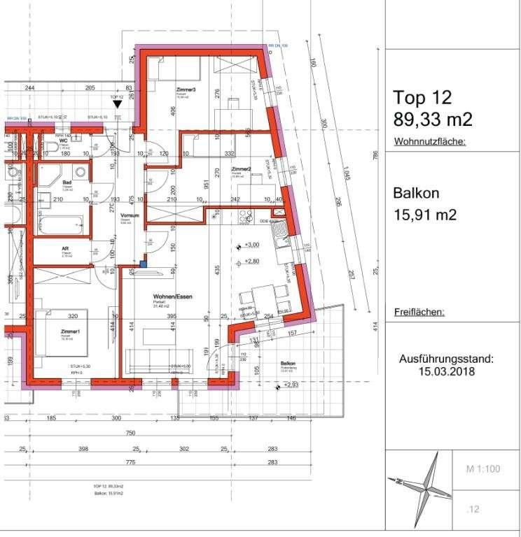 Grundrissplan Top 12