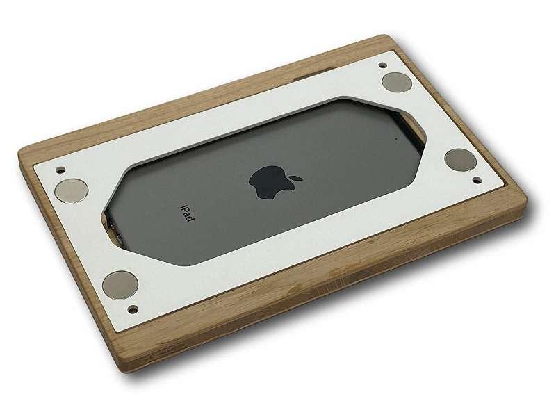 NobleFrames Tablet Wandhalterung für iPad mini 4 und iPad mini 5 aus Eiche