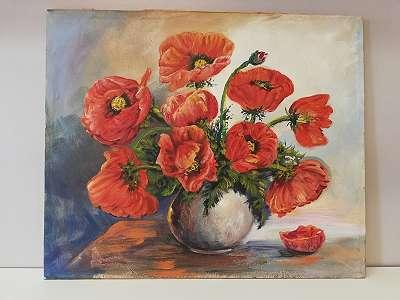 Stilleben Roter Blumenstrauß