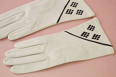 Alte, originale Vintage-Handschuhe aus den 50er Jahren. Gr. 7 ¼ Damen Frauen Accessoirs Lederhandschuhe Herbst Winter Theater Midcentury Mid-Century 50er 60er Abend