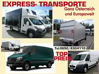 Transporte aller Art - Expressfahrten in ganz Österreich und Europa
