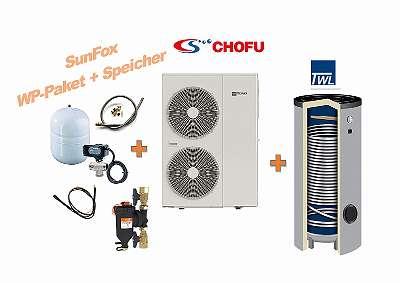 Chofu 12kW Wärmepumpen Komplettpaket 400L Speicher