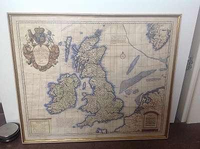 Alte Landkarte kolorierter Kuperstich von 1735