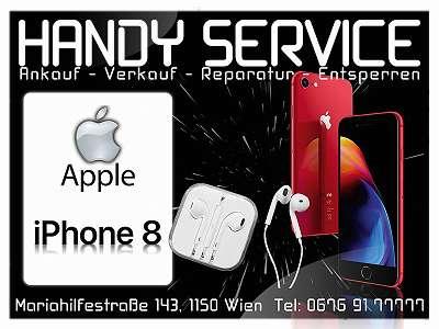 Apple iPhone 8 64GB in Silver ? 259, Guter Zustand OFFEN Für Alle NETZE mit Zubehör!