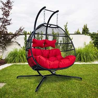 Bild 1 von 11 - Luxus Hängesessel Skyros II (Hängematte Swing Chair Hollywoodschaukel Hängeliege Hängekorb) NEU