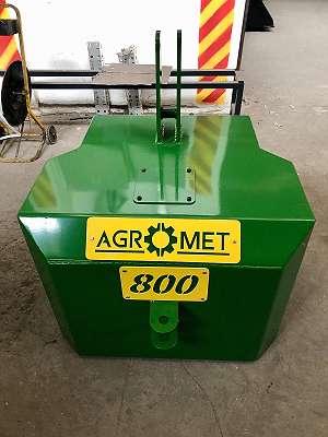 AGROMET - Multi Frontgewicht, Heckgewicht 400/1200 kg in Farben Fendt-Steyr-John Deere-New Holland-Deut